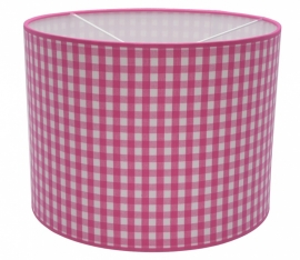 fuchsia / white checkered medium