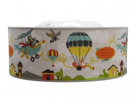 Flying animals grey ceiling lamp