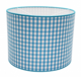 aquablue / white checkered medium