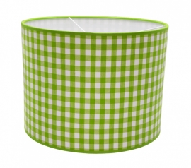 limegreen / white checkered medium