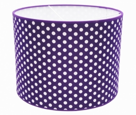 bright purple / white dotted medium