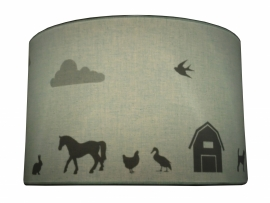 Farm silhouette hanging lamp