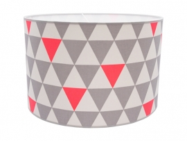 Geometric grey - fluorescent orange