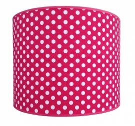 fuchsia / white dotted medium