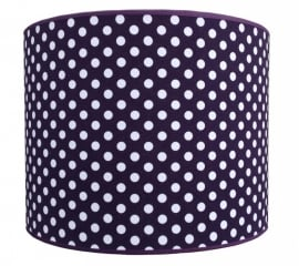 purple / white dotted medium
