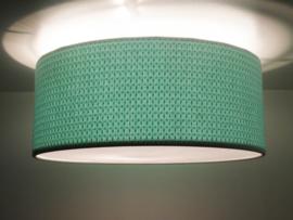 Wafel plafondlamp mint
