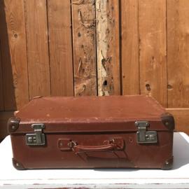Koffer bruin 55 x 35 x 19 origineel