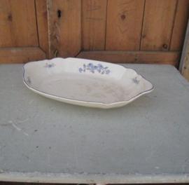 Societe Ceramique schaal creme blauw bloem