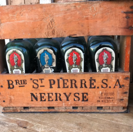 Krat hout kist flessen jenever België VERKOCHT