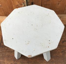 Vensterbankje krukje tafeltje grijs 26 cm