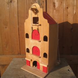 Pakhuis speelgoed hout lichte vochtschade