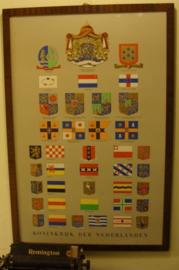 Afbeelding poster Koninkrijk der Nederlanden in lijst hout