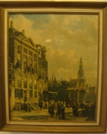 Amsterdam Rembrandthuis afbeelding in lijst