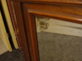 Spiegel origineel 109 x 76 facet lijst hout 1930 commode