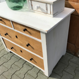 Commode ladekast brocante wit laden origineel