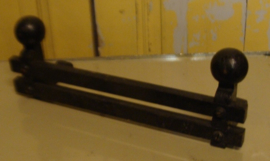 Rek sierrek metaal open haard zwart ijzer