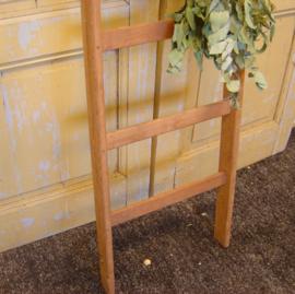 Houten ladder trap 6 treden decoratie VERKOCHT