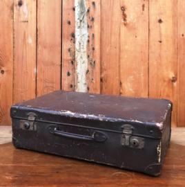 Koffer bruin 45 x 28 x 15 origineel