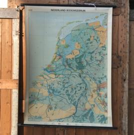 Schoolplaat schoolkaart Nederland bodemgebruik