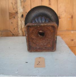 Vaas louvre zwart metaal decoratie 25 cm