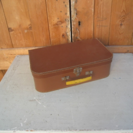 Koffer koffertje kinderkoffer bruin 35 x 20