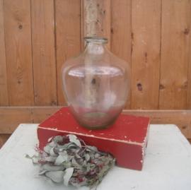 Vaas glas origineel 30 cm hoog vergisting kruik