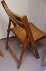 Eetkamer stoel hout opklapbaar middel bruin