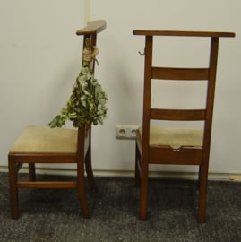 Bidstoel bidstoeltje knielstoel met leer VERKOCHT