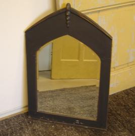 Spiegel 39 x 51,5 facet geslepen 1930 grijs brocante