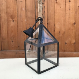 Buitenlamp hanglamp lamp glas met metaal