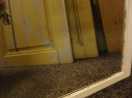 Spiegel wit brocante 73 x 51 in hout lijst