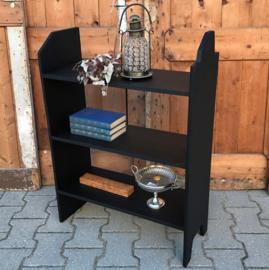 Boeken kast schappen kast zwart 60 cm breed