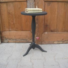 Wijntafel bijzettafel haltafel grijs 51,5 cm hoog