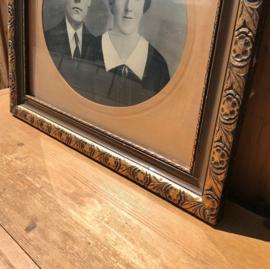 Oude lijsten hout 61 x 50 met oude foto's