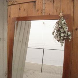 Spiegel antiek hout lijst oud 170 cm passpiegel