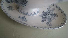 Jus terrine juskom Flore U&C Sarreguemines wit blauw