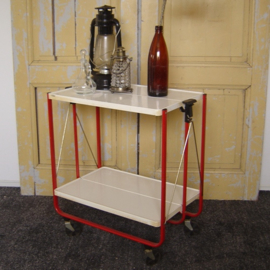 FRZ German folding trolley serveerwagen butlertray origineel