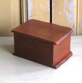 Sieraden kastje hout bruin byoux kistje VERKOCHT