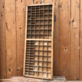 Letterbak origineel hout antiek Croon VERKOCHT