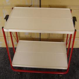 FRZ German folding trolley serveerwagen butlertray origineel