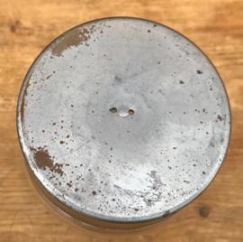 Pot voorraadpot blank glas metalen deksel