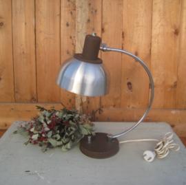 Tafel lamp metaal bureau buro vintage retro