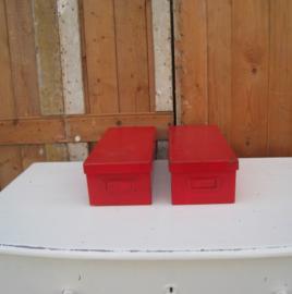 Kist archiefkist archiefdoos met deksel rood