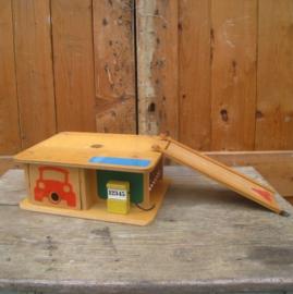 SIO garage speelgoed hout origineel