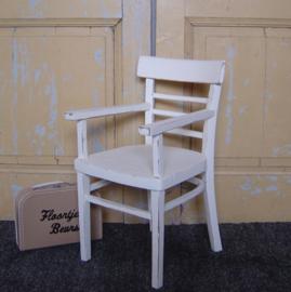 Kinderstoel wit brocante stoeltje hout landelijk