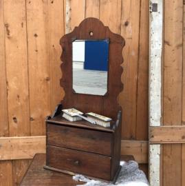 Halkast met spiegel wand hangkastje VERKOCHT