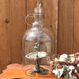Stolp glas rond 24,5 cm hoog fles model