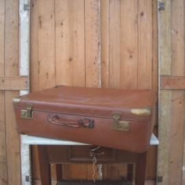 Koffer bruin origineel 75 x 50 cm
