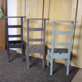 Bidstoel grijs & groen bidstoeltje knielstoel nieuw bekleed