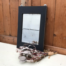 Spiegel 29 x 43 cm facet geslepen 1930 grijs